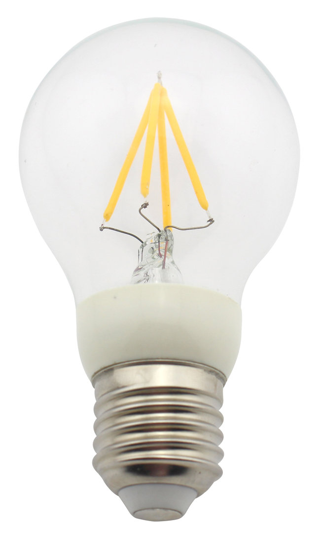 Leditburn E27 LED Birne Fadenlampe klar 4 Watt (ersetzt 40W) A++ 435lm warmweiß 240V nicht dimmbar